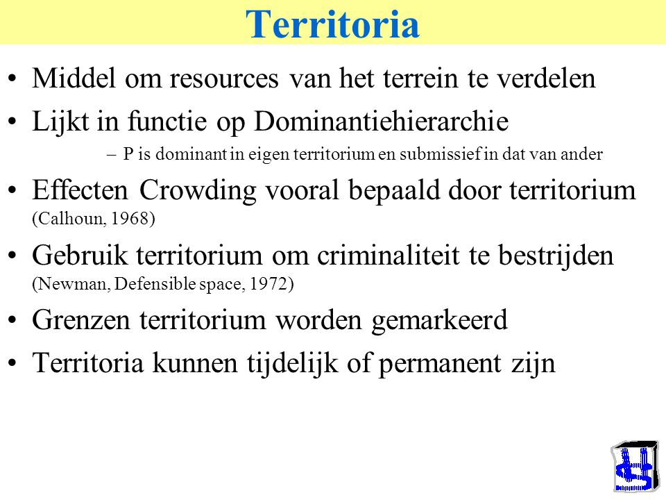 Territoria Middel om resources van het terrein te verdelen