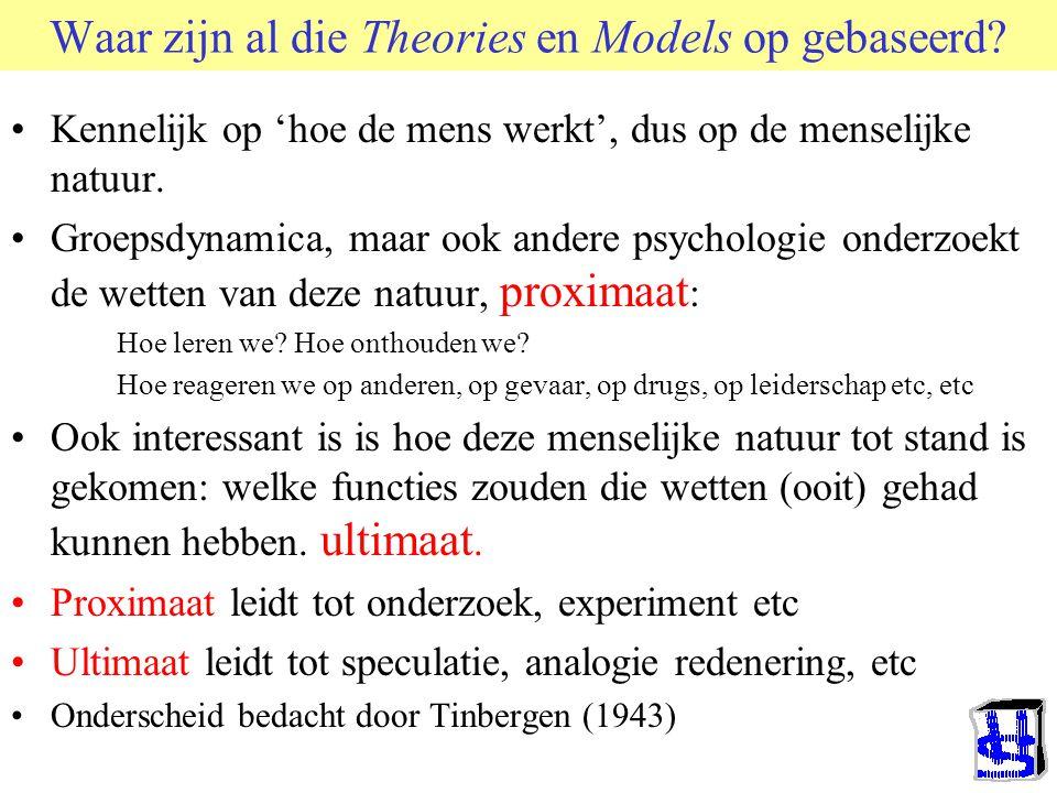 Waar zijn al die Theories en Models op gebaseerd