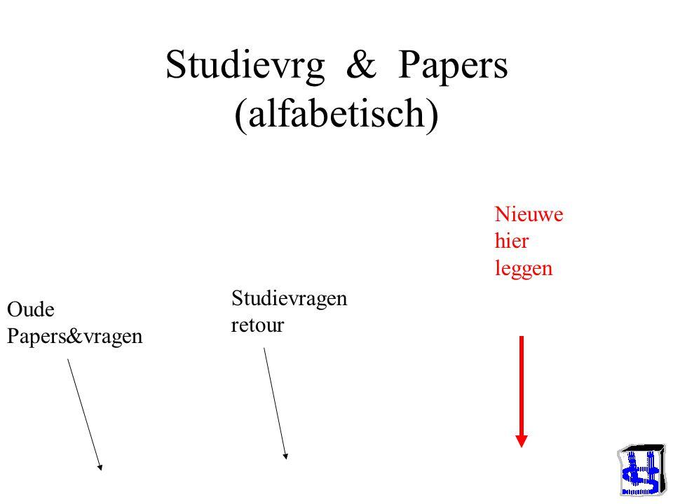 Studievrg & Papers (alfabetisch)