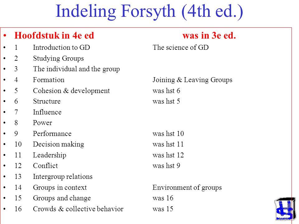 Indeling Forsyth (4th ed.)