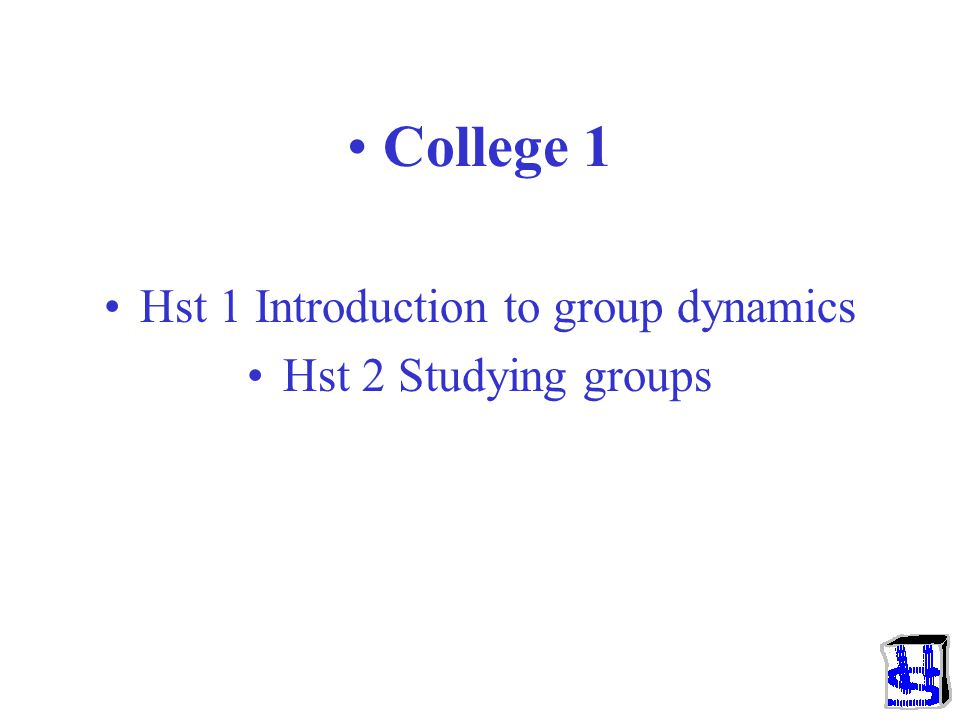 Hst 1 Introduction to group dynamics