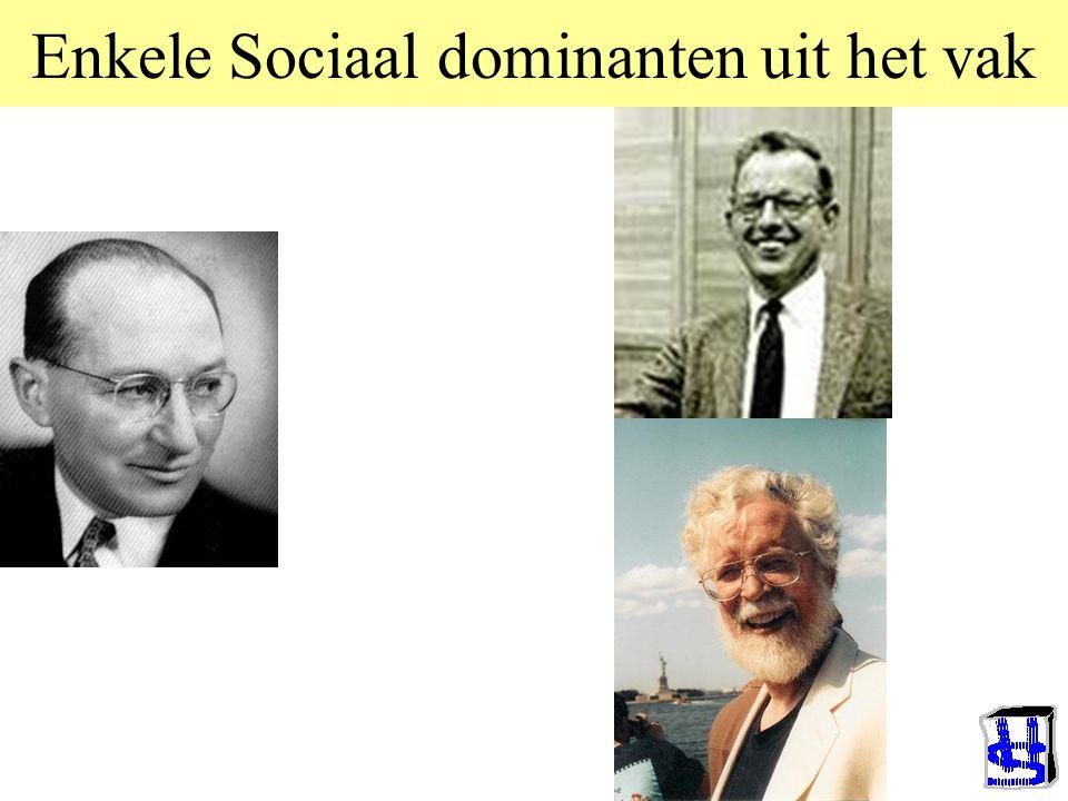 Enkele Sociaal dominanten uit het vak