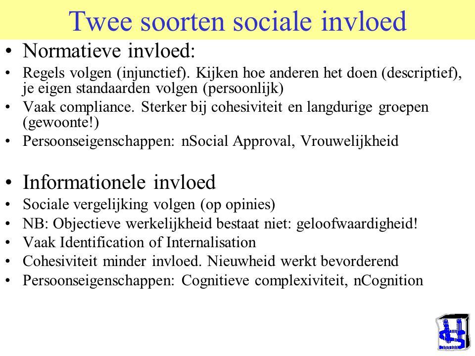 Twee soorten sociale invloed