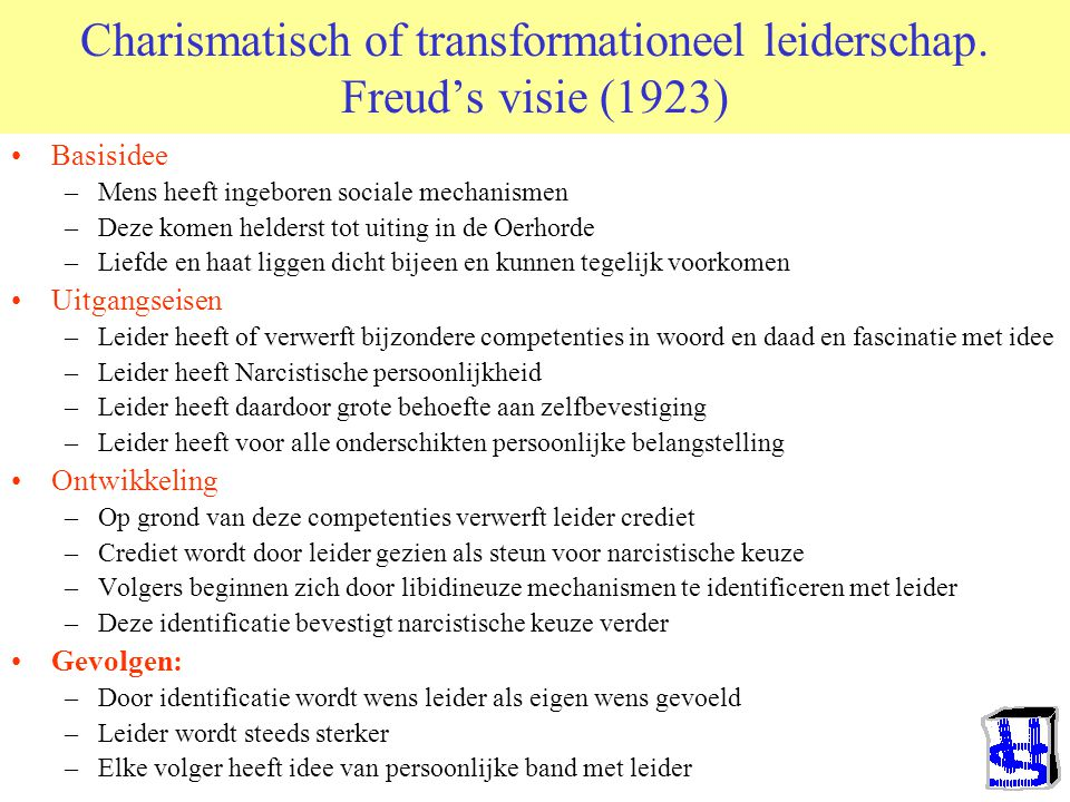 Charismatisch of transformationeel leiderschap. Freud's visie (1923)
