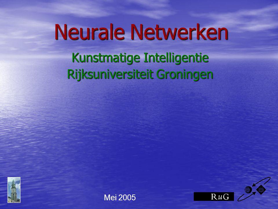Kunstmatige Intelligentie Rijksuniversiteit Groningen