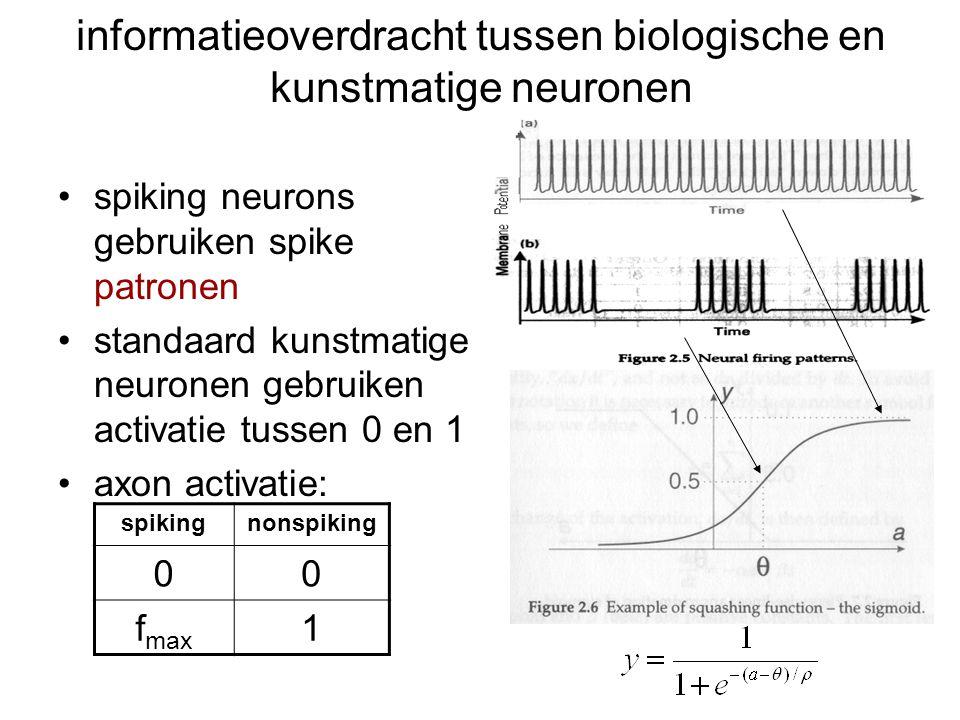 informatieoverdracht tussen biologische en kunstmatige neuronen