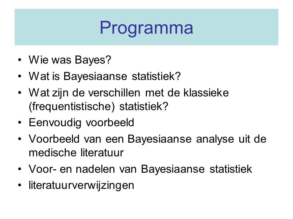 Programma Wie was Bayes Wat is Bayesiaanse statistiek