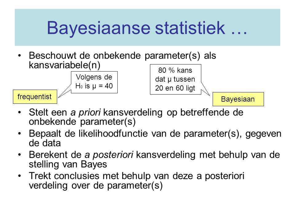Bayesiaanse statistiek …