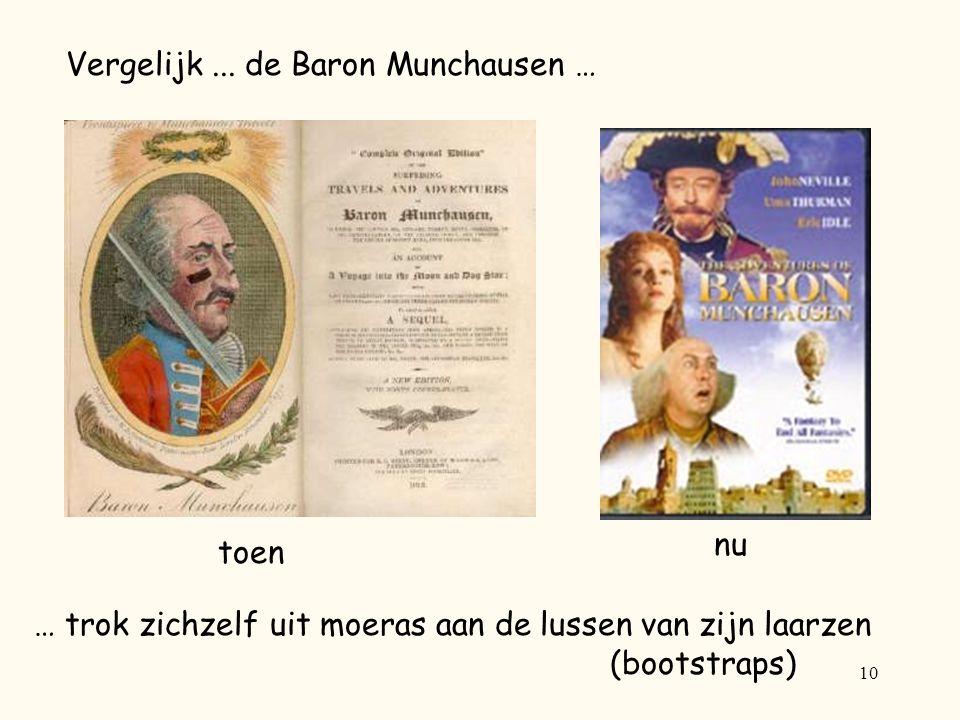 Vergelijk ... de Baron Munchausen …