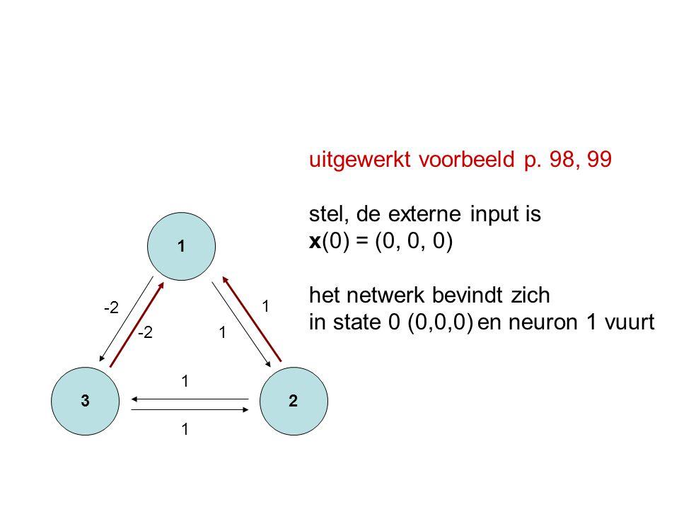 uitgewerkt voorbeeld p. 98, 99 stel, de externe input is