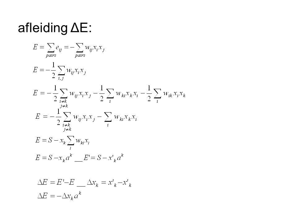 afleiding ΔE: tweede regel: symmetrisch en non-reflexief