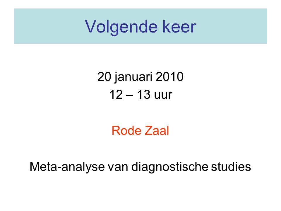 Meta-analyse van diagnostische studies