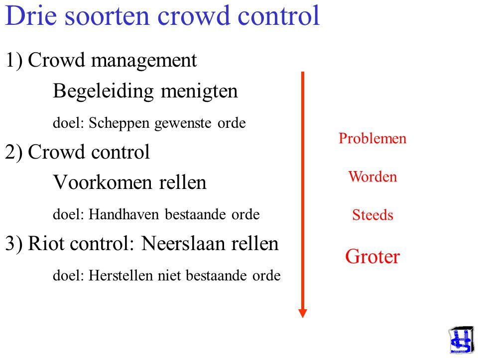 Drie soorten crowd control