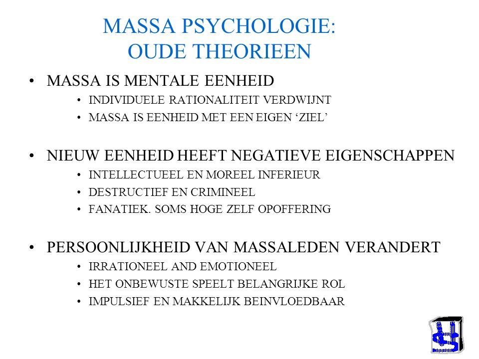 MASSA PSYCHOLOGIE: OUDE THEORIEEN