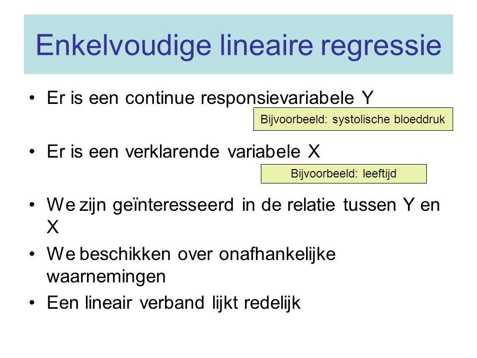 Enkelvoudige lineaire regressie