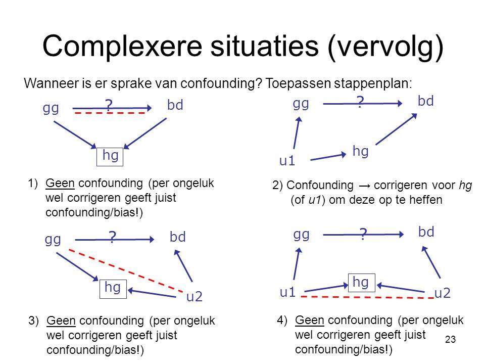Complexere situaties (vervolg)