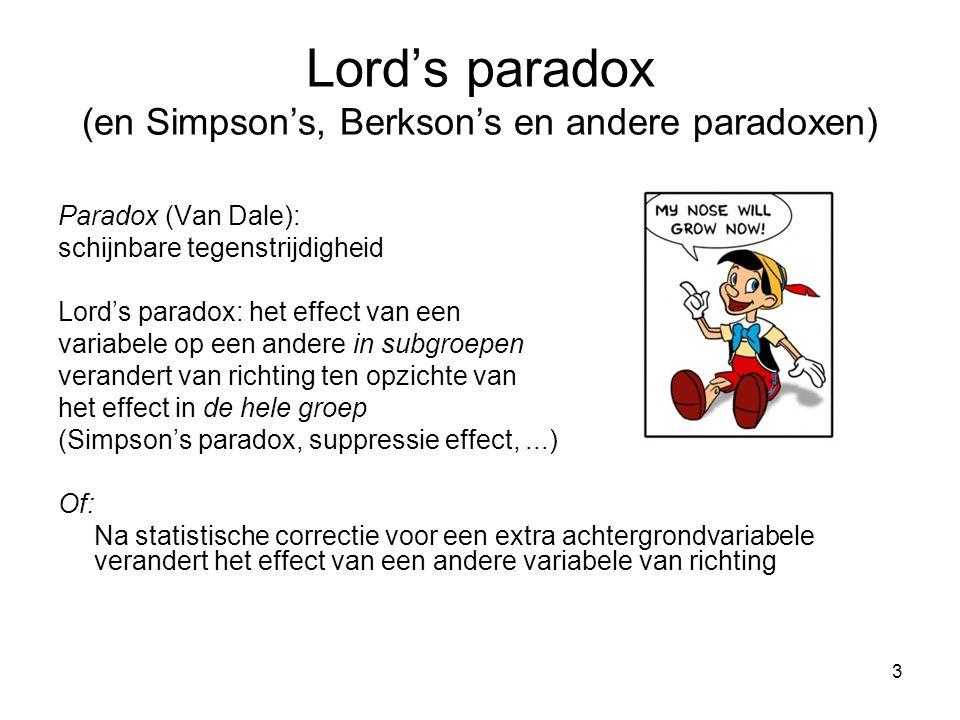 Lord's paradox (en Simpson's, Berkson's en andere paradoxen)