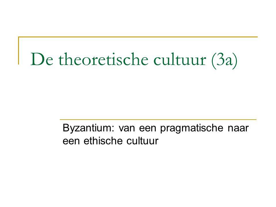 De theoretische cultuur (3a)