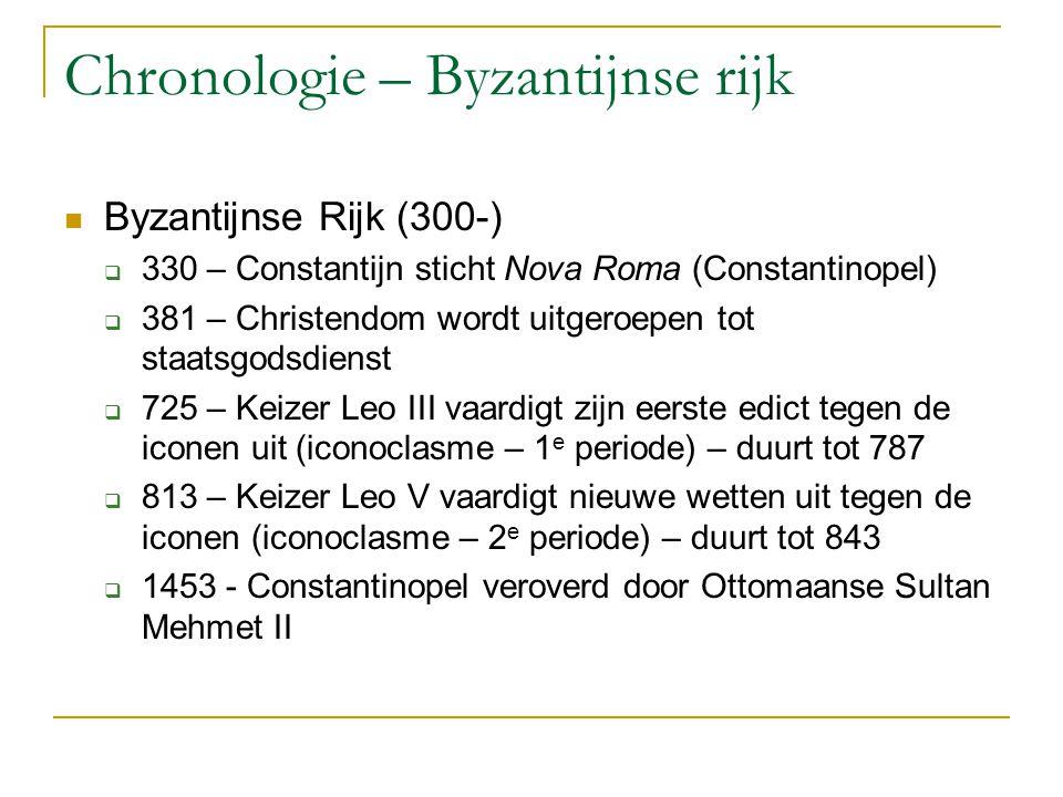 Chronologie – Byzantijnse rijk