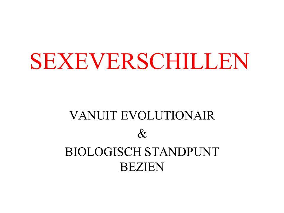 VANUIT EVOLUTIONAIR & BIOLOGISCH STANDPUNT BEZIEN