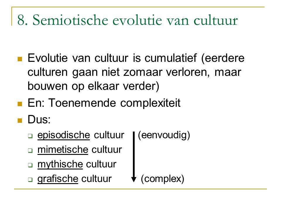 8. Semiotische evolutie van cultuur