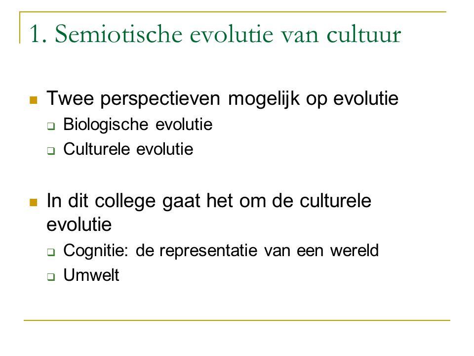 1. Semiotische evolutie van cultuur