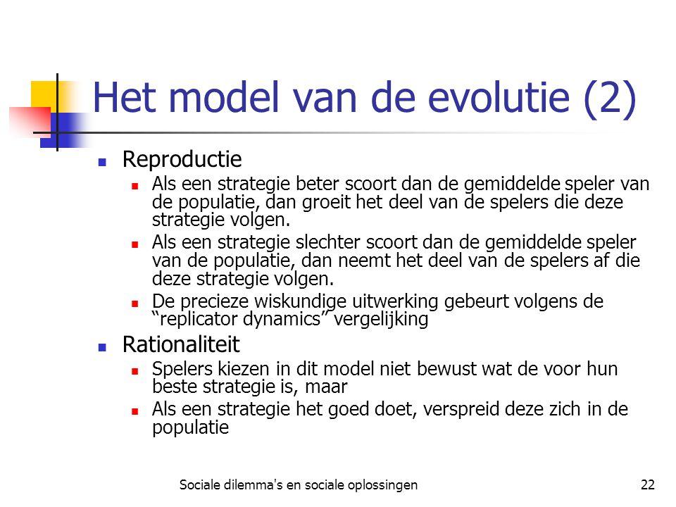 Het model van de evolutie (2)