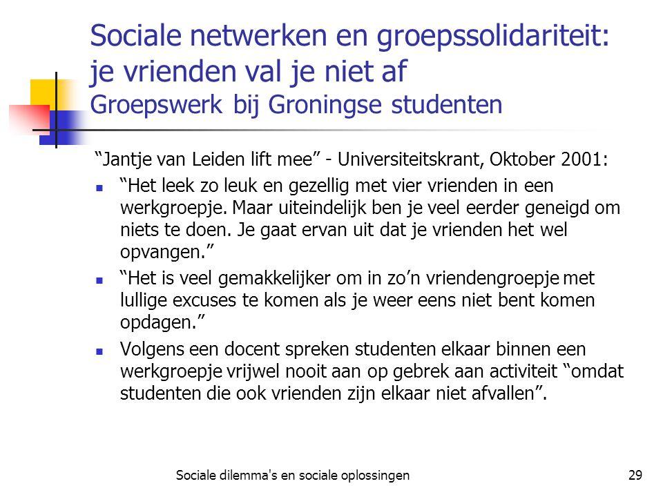 Sociale dilemma s en sociale oplossingen