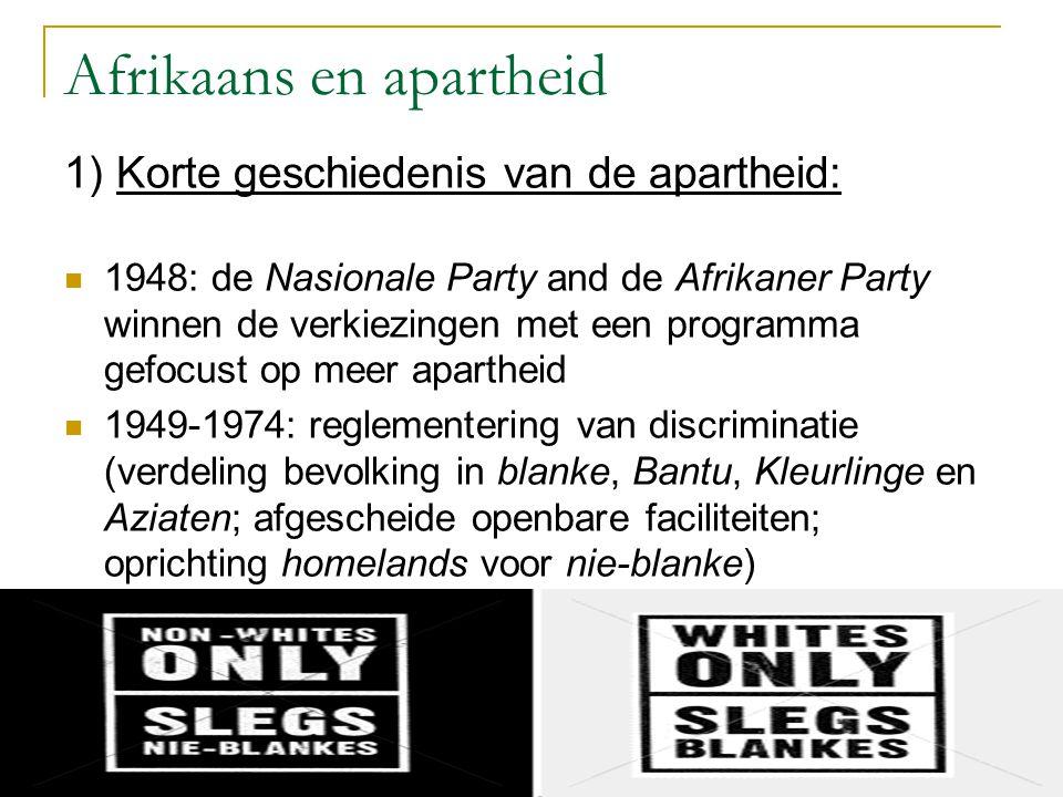 Afrikaans en apartheid