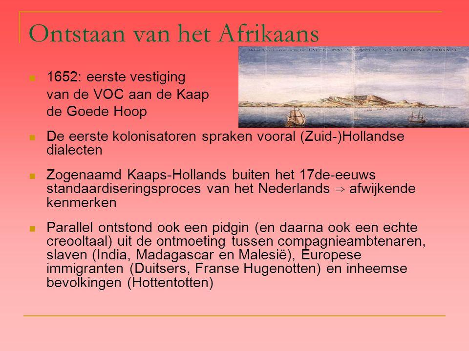 Ontstaan van het Afrikaans