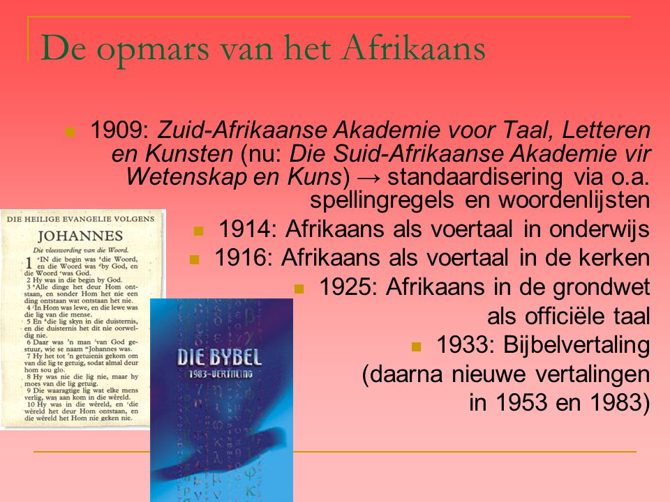 De opmars van het Afrikaans