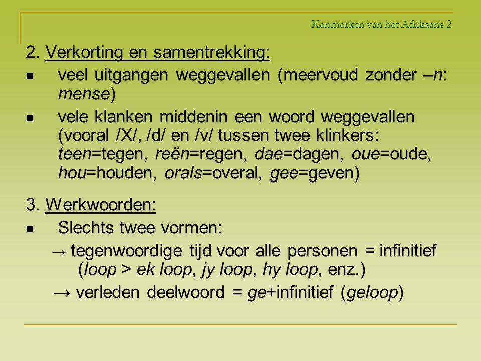 Kenmerken van het Afrikaans 2