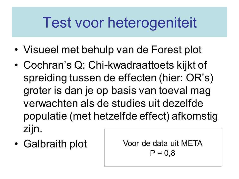 Test voor heterogeniteit