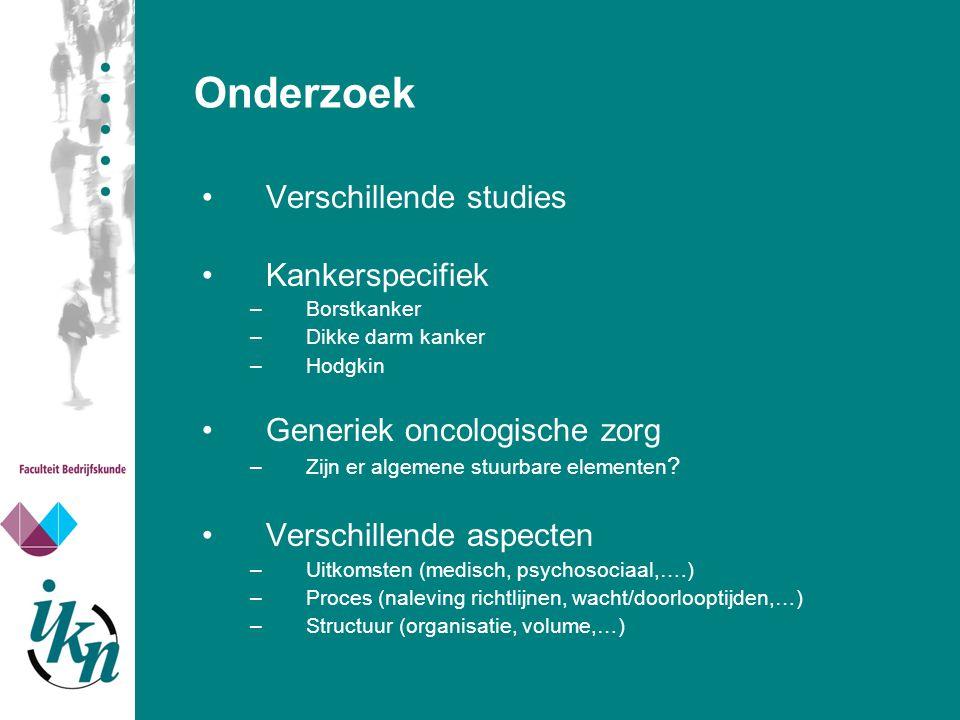Onderzoek Verschillende studies Kankerspecifiek