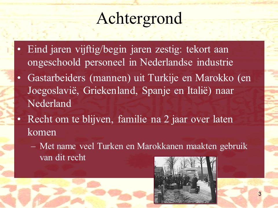 Achtergrond Eind jaren vijftig/begin jaren zestig: tekort aan ongeschoold personeel in Nederlandse industrie.