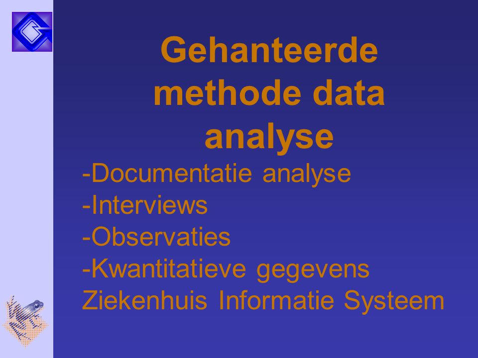 Gehanteerde methode data analyse