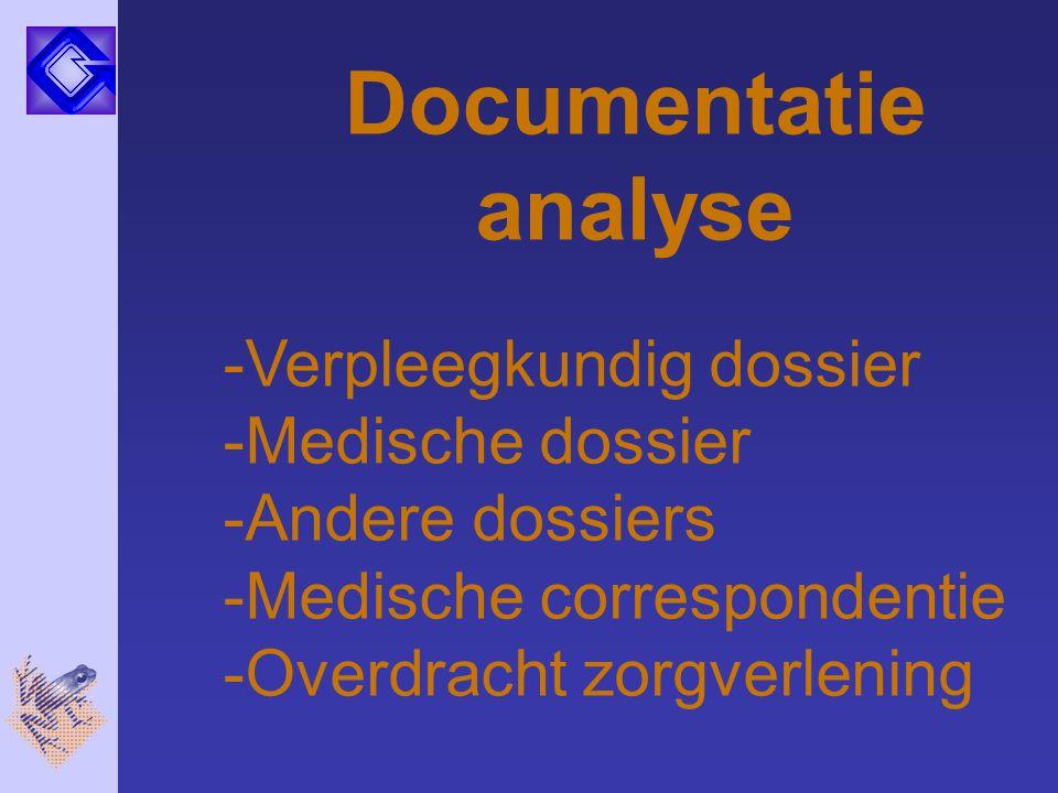 Documentatie analyse Verpleegkundig dossier Medische dossier