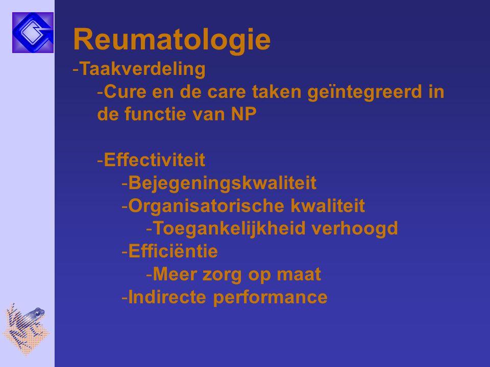 Reumatologie Taakverdeling