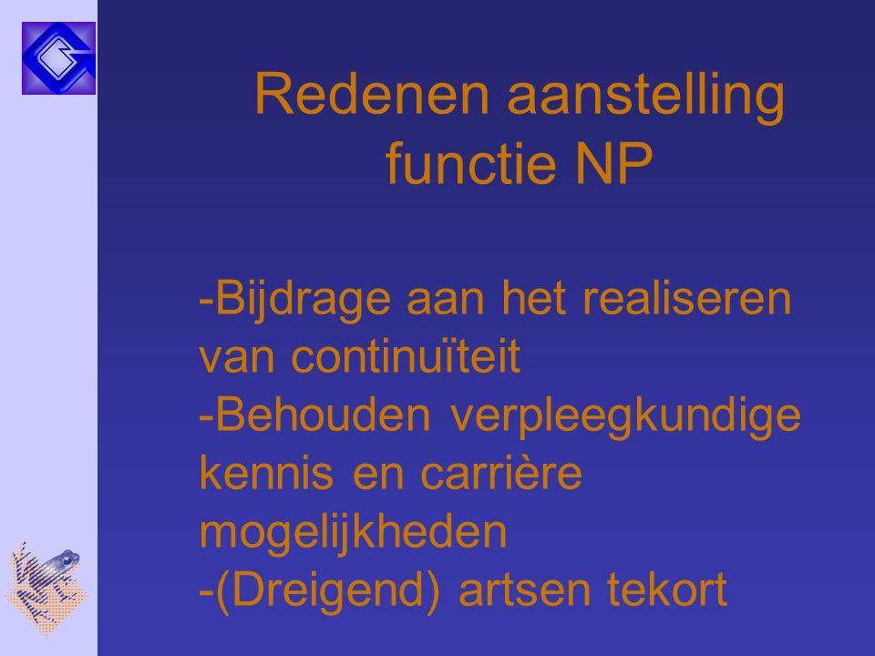 Redenen aanstelling functie NP