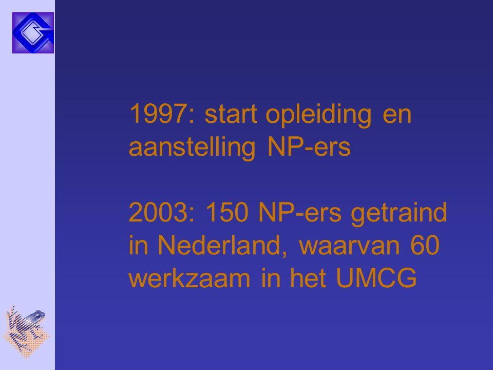1997: start opleiding en aanstelling NP-ers
