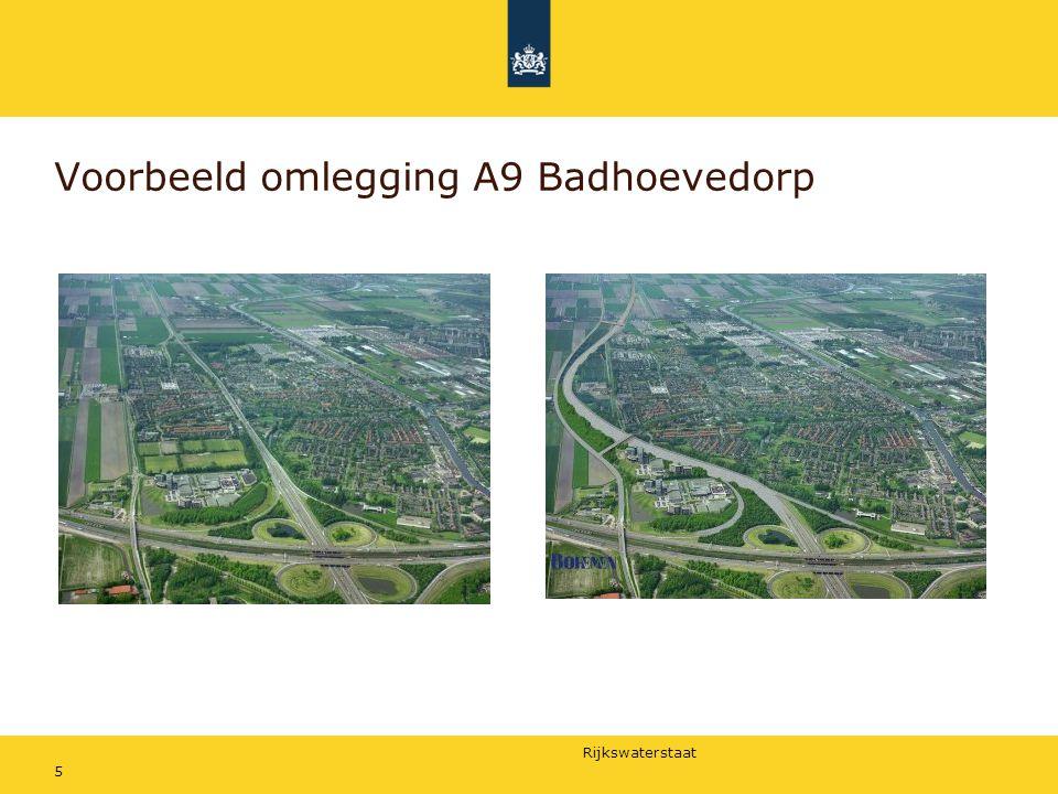 Voorbeeld omlegging A9 Badhoevedorp