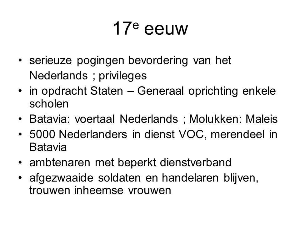17e eeuw serieuze pogingen bevordering van het Nederlands ; privileges