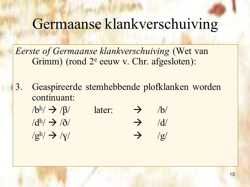 Germaanse klankverschuiving