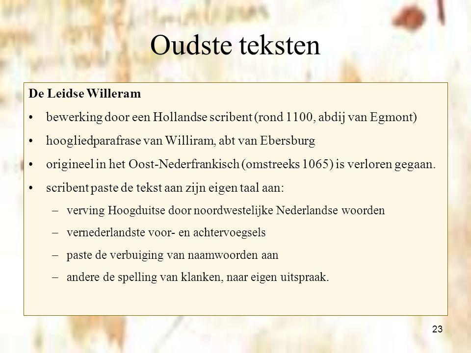 Oudste teksten De Leidse Willeram