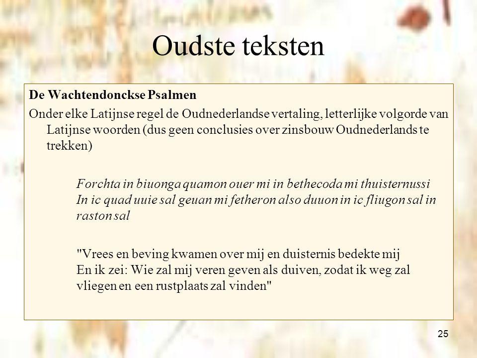 Oudste teksten De Wachtendonckse Psalmen