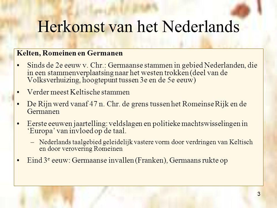 Herkomst van het Nederlands