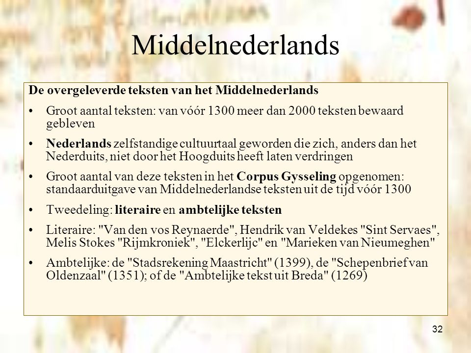 vertaling van den vos reynaerde