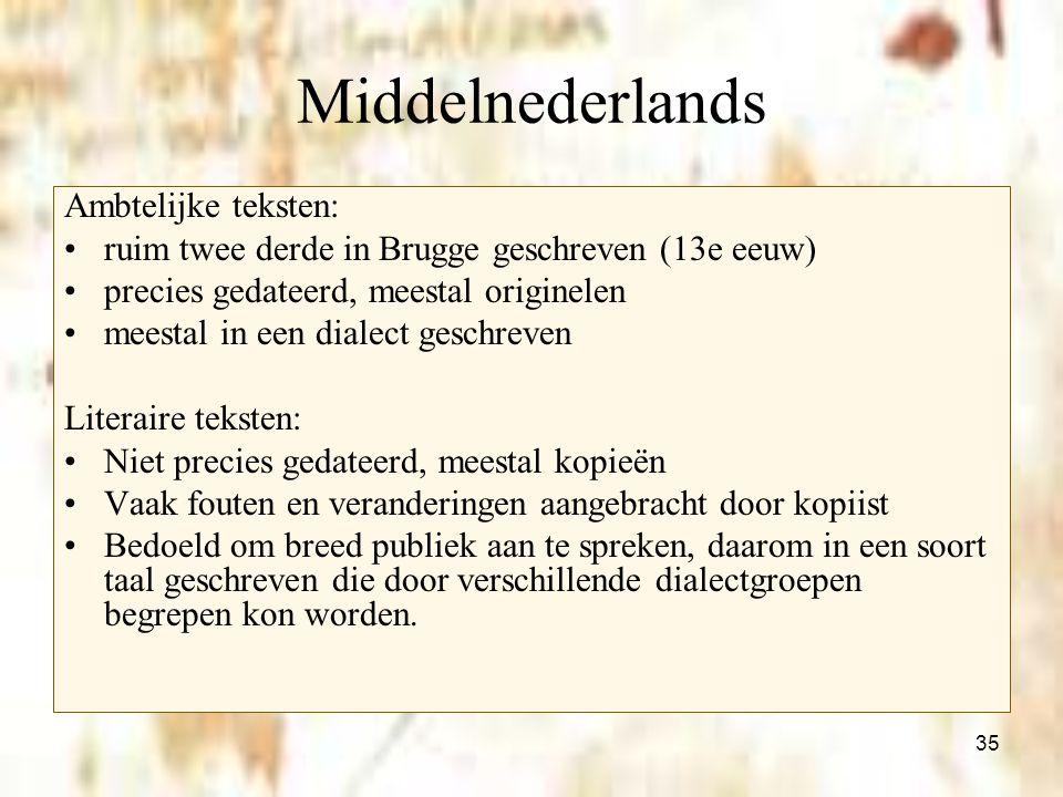 Middelnederlands Ambtelijke teksten: