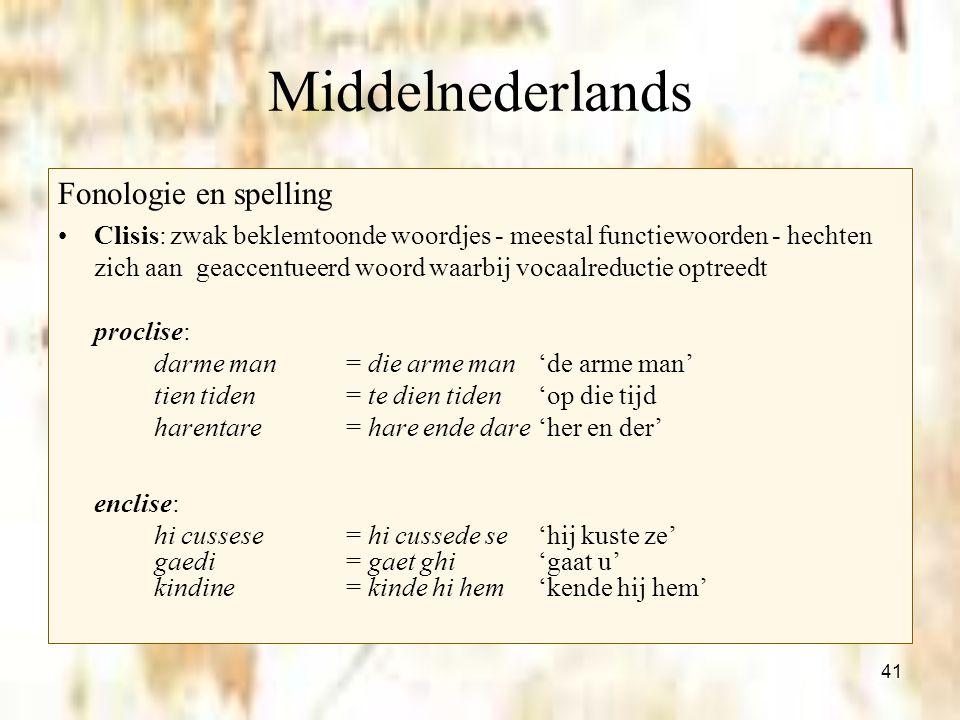 Middelnederlands Fonologie en spelling