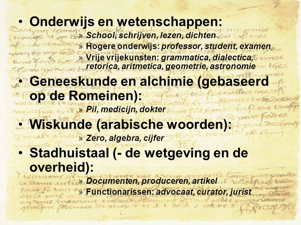 Onderwijs en wetenschappen: